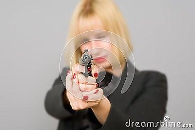 A girl with a gun