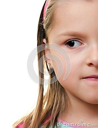 Girl half face