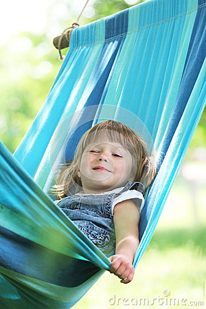 girl on a hammock