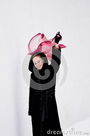Girl with handkerchief