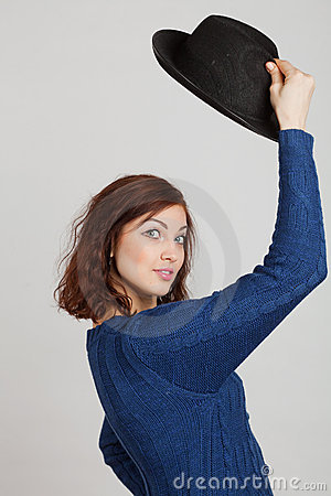 Girl and hat