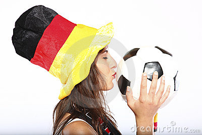 Girl With Hat Kissing The Ball
