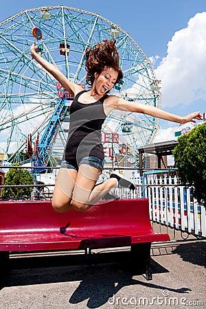 Free Girl Having Fun In Amusement Park Royalty Free Stock Photos - 15383618
