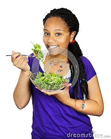 Free Girl Having Salad Stock Photography - 10467432