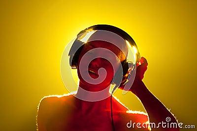 Girl in headphones.