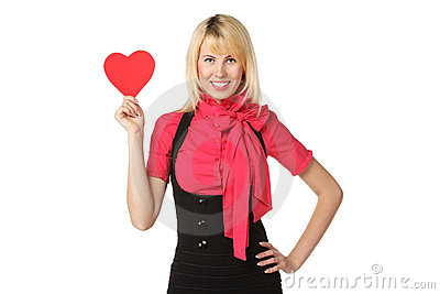 Girl With Heart Shape