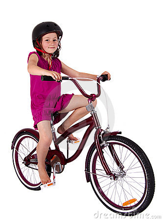 Girl on her bicycle