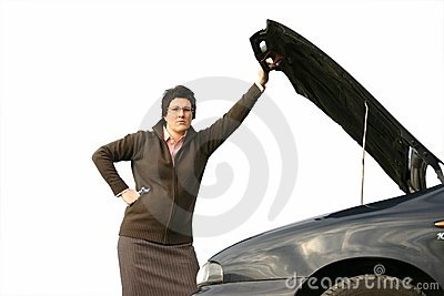 Girl with her broken car 3