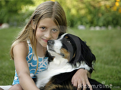 Girl and Her Dog