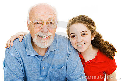 Girl and Her Grandpa
