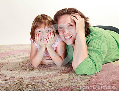 Girl with her Mom