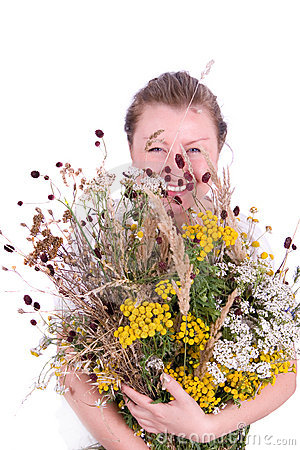 Girl with herbs