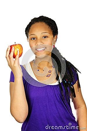 Free Girl Holding Apple Stock Photo - 10321700