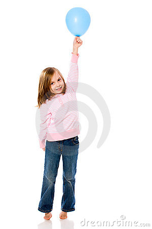 Free Girl Holding Balloon Royalty Free Stock Photography - 13319227