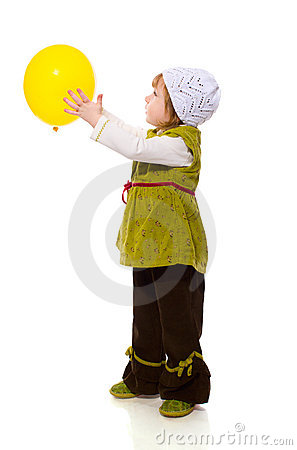 Free Girl Holding Balloon Royalty Free Stock Photography - 13575247