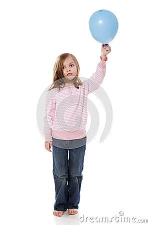 Free Girl Holding Balloon Stock Photos - 22700443