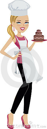 Girl holding a cake