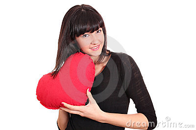 Girl holding a heart