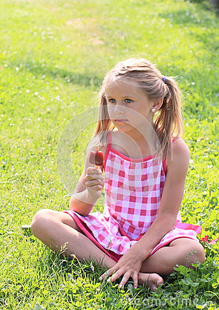 Girl holding ice-cream