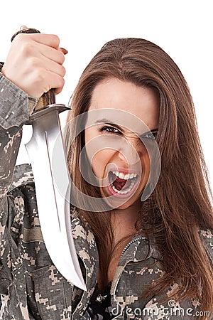 Girl Holding Knife Stock Image Image 22800611