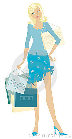 Free Girl Holding Shopping Bags Royalty Free Stock Photo - 862825