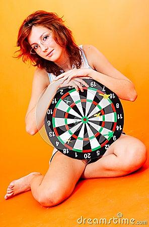 Girl Holding Target - 2