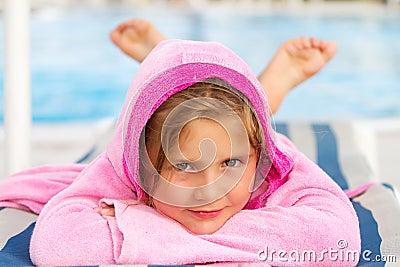 Girl on holiday