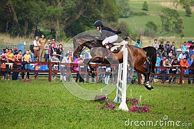 Girl horse riding Editorial Image