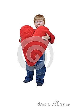 Girl with huge heart