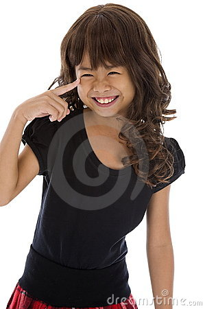 Girl with a huge smile