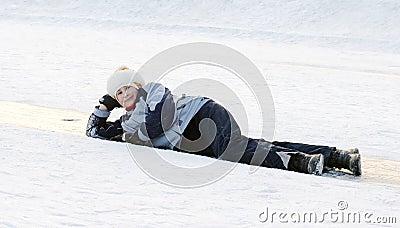 Girl on ice