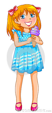 Girl with an ice cream