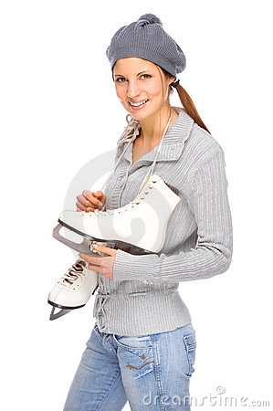 Girl with ice skate