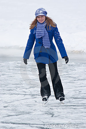 Girl on ice skates.