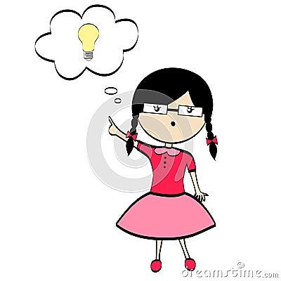 A girl with idea