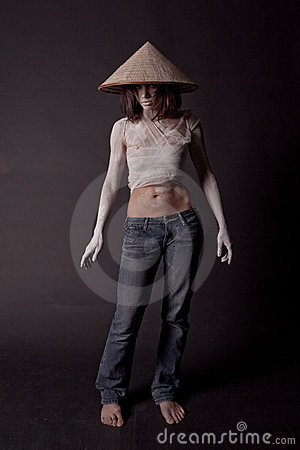 Free Girl In A сhinese Hat Royalty Free Stock Photography - 12963867