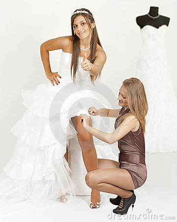 Free Girl In A Wedding Dress Show Thumb Stock Image - 21550241