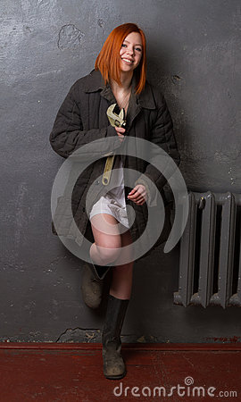 Free Girl In A Worker Suit Royalty Free Stock Photography - 89797487