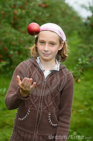 Free Girl In An Apple Orchard Royalty Free Stock Photos - 10280738