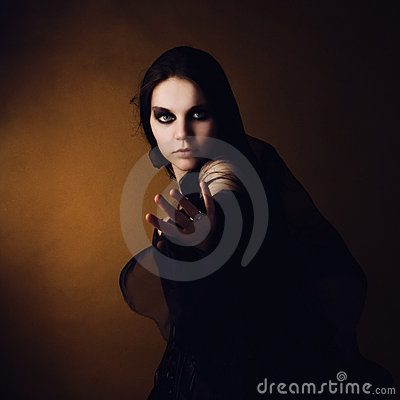 Free Girl In An Image Of A Witch Stock Photo - 15085710