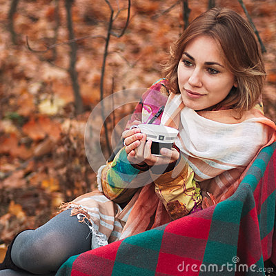 Free Girl In Autumn Forest Stock Photo - 30594160
