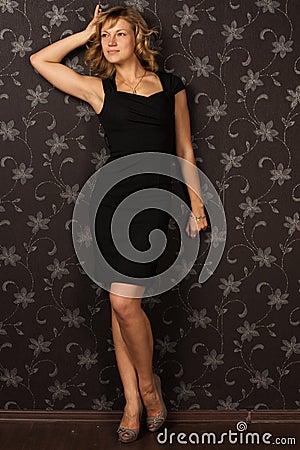 Free Girl In Black Dress Royalty Free Stock Image - 17635946
