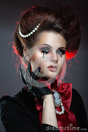 Free Girl In Gothic Art Style. Royalty Free Stock Photo - 43168035