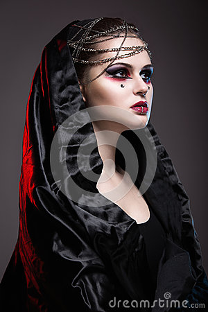 Free Girl In Gothic Art Style. Stock Image - 43168221