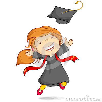 Free Girl In Graduation Gown Stock Photography - 25438942