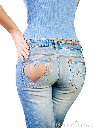 Free Girl In Jeans Royalty Free Stock Photography - 22192047