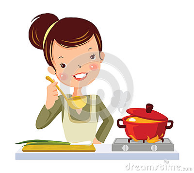 Free Girl In Kitchen. Royalty Free Stock Photo - 35365905