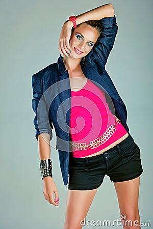 Free Girl In Linen Blazer Royalty Free Stock Photos - 24633518