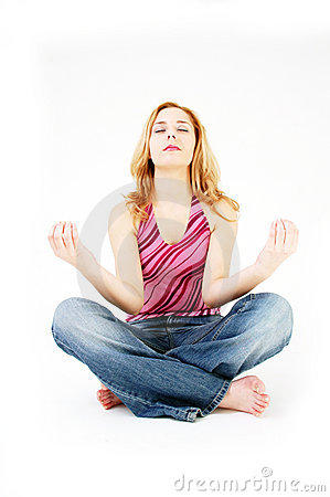 Free Girl In Meditation Pose 2 Stock Images - 328834