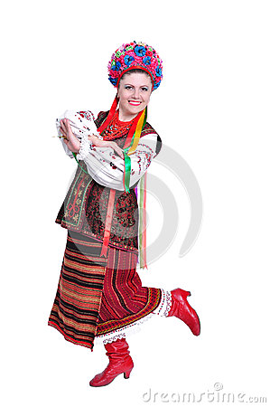 Free Girl In National Ukrainian (russian) Costume Royalty Free Stock Photo - 25142035